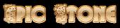 Font Glitter Font Epic Stone Logo Preview