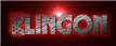 Font Glitter Font Klingon Logo Preview
