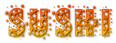 Font Glitter Font Sushi Logo Preview