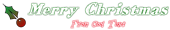 Font HVD Bodedo Christmas Symbol Logo Preview