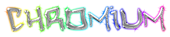 Font Hardcore Chromium Logo Preview