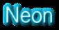 Neon Logo Style