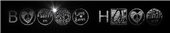 Font HippyStampA Black Hole Logo Preview