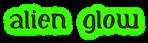 Font Initial Alien Glow Logo Preview