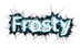 Font Iron League Frosty Logo Preview