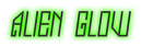 Font Jealousy Alien Glow Logo Preview
