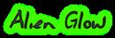 Font Jessescript Alien Glow Logo Preview