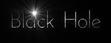 Font Josefin Black Hole Logo Preview