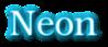 Font Kacst Pen Neon Logo Preview