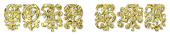Font Kelly Ann Gothic Gold Bar Logo Preview