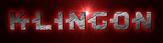 Font Kinex Klingon Logo Preview