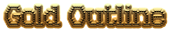 Font Kingthings Xstitch Gold Outline Logo Preview