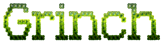 Font Kingthings Xstitch Grinch Logo Preview