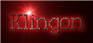 Font Kingthings Xstitch Klingon Logo Preview