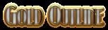 Font Kismet Gold Outline Logo Preview
