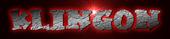 Font Kleptomaniac Klingon Logo Preview