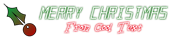 Font LED Real Christmas Symbol Logo Preview