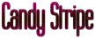 Font Labtop Candy Stripe Logo Preview