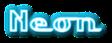 Font LakeshoreDrive Neon Logo Preview