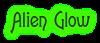 Font Lansbury Alien Glow Logo Preview