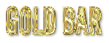Font League Gothic Gold Bar Logo Preview