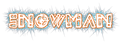 Font Leftside Snowman Logo Preview