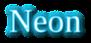 Font Liberation Serif Neon Logo Preview
