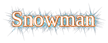 Font Liberation Serif Snowman Logo Preview