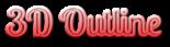 Font Lobster 3D Outline Gradient Logo Preview