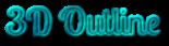 Font Lobster 3D Outline Textured Logo Preview