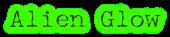 Font McGarey Alien Glow Logo Preview
