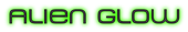 Font MetroDF Alien Glow Logo Preview
