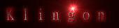 Font 細明體 MingLiU Klingon Logo Preview