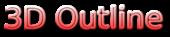 Font Mothanna 3D Outline Gradient Logo Preview