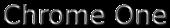 Font Mothanna Chrome One Logo Preview