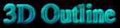Font Nazli 3D Outline Textured Logo Preview