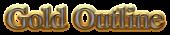 Font Nazli Gold Outline Logo Preview