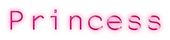 Font NotCourierSans Princess Logo Preview