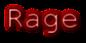 Font NotCourierSans Rage Logo Preview