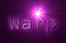 Font NotCourierSans Warp Logo Preview