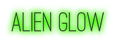 Font Ostrich Sans Alien Glow Logo Preview