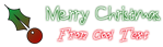 Font !PaulMaul Christmas Symbol Logo Preview