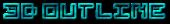 Font Pixel 4x4 3D Outline Textured Logo Preview