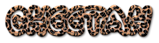 Font Poo Cheetah Logo Preview