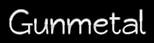 Font Qarmic sans Gunmetal Logo Preview