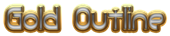 Font Quacksalver Gold Outline Logo Preview