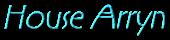 Font RX House Arryn Logo Preview