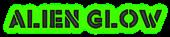 Font Rafika Alien Glow Logo Preview
