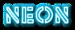 Font Rafika Neon Logo Preview