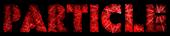Font Rafika Particle Logo Preview
